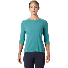 Mountain Hardwear Crater Lake 3/4 Crew Dames, washed turquoise
